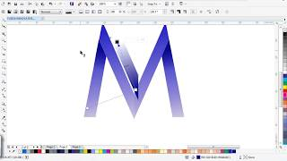 how to draw 3d letter m gradient Coreldraw tutorial