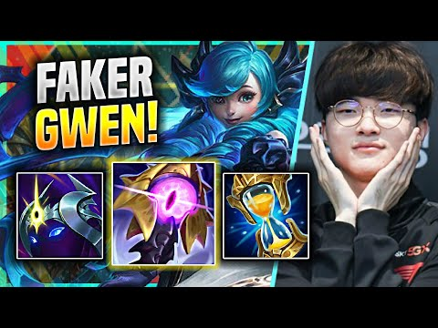 FAKER IS READY FOR GWEN MID! - T1 Faker Plays Gwen Mid vs Orianna! | KR SoloQ Patch 11.12