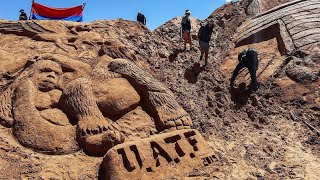 Sandskulpturen in Bolivien werden Kunstaktion zum Osterfest