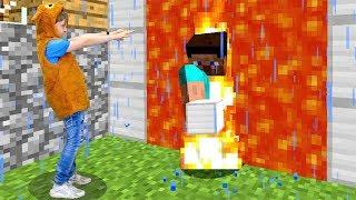 Портал в РЕАЛЬНЫЙ Мир! СТИВ #Майнкрафт в гостях у Адриана! Смешное видео #Minecraft Игры для детей