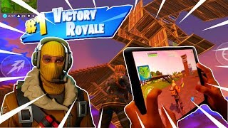 🔴Fortnite Mobile // PLAYING AGGRESSIVE! // 4 Finger Claw + Handcam!