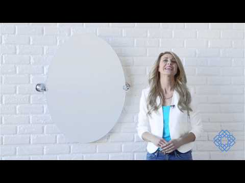 Video for Tiara Chrome Large Tilting Oval Mirror