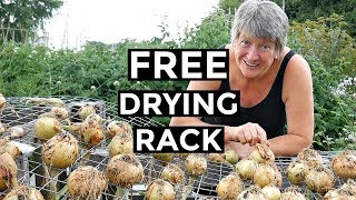 FREE Onion Drying Rack | DIY Airer For Onions