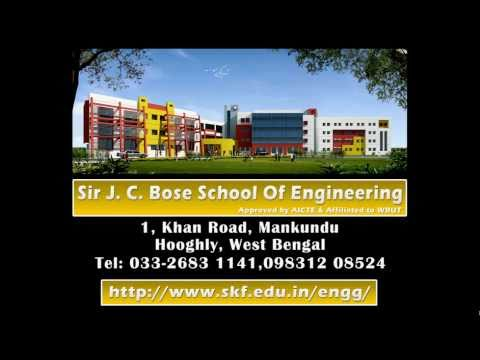 Sir J. C. Bose School of Engineeringis located at Mankundu in Hooghly. Lots of engineering colleges are there in and around Hooghly. This college is just half an hour's drive from the heart of kolkata city. The sprawling campus of this engineering college