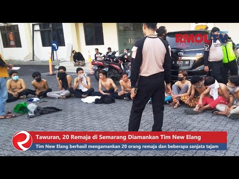 Tawuran, 20 Remaja di Semarang Diamankan Tim New Elang Polrestabes Semarang