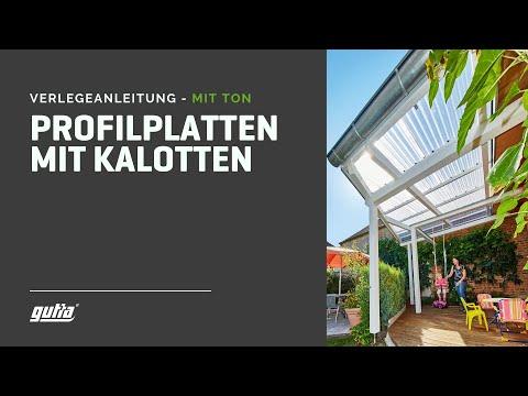 guttagliss acryl sz Profilplatten Verlegung mit Kalotten  -  mit Ton !