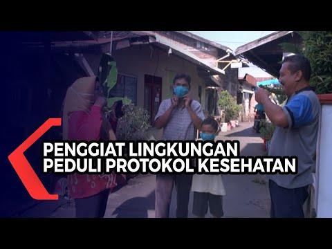 giat kampanye protokol kesehatan penggiat lingkungan ini tak segan peringatkan warga untuk patuh