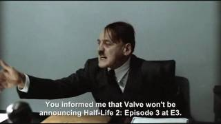 Hitler is informed Portal 2 is delayed till 2011