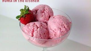 Homemade Strawberry Ice Cream Recipe – Egg less – No Ice cream Maker by (HUMA IN THE KITCHEN)