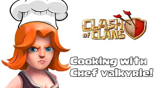 Clash of clans - Cooking with Valkyrie (1 valk vs full Clan castle)