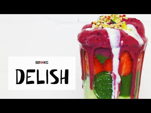 Berry Layered Smoothie | Duronic Delish | BL10 Blender