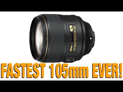 Nikon 105mm f/1.4E - worlds fastest 105mm AF lens