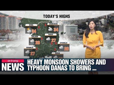 Heavy monsoon showers and Typhoon Danas to bring torrential rain_071919