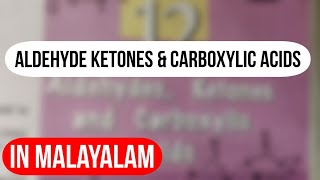 Plus Two Chemistry Aldehyde Ketones and Carboxylic Acids- Hsslive.in Exam  Discussion