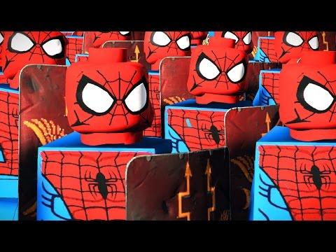 1000 SPIDERMAN LEGO VS 1000 CAPTAIN AMERICA - MASSIVE SUPERHEROES LEGO BATTLE SUPERHEROES LEGO MOVIE (видео)