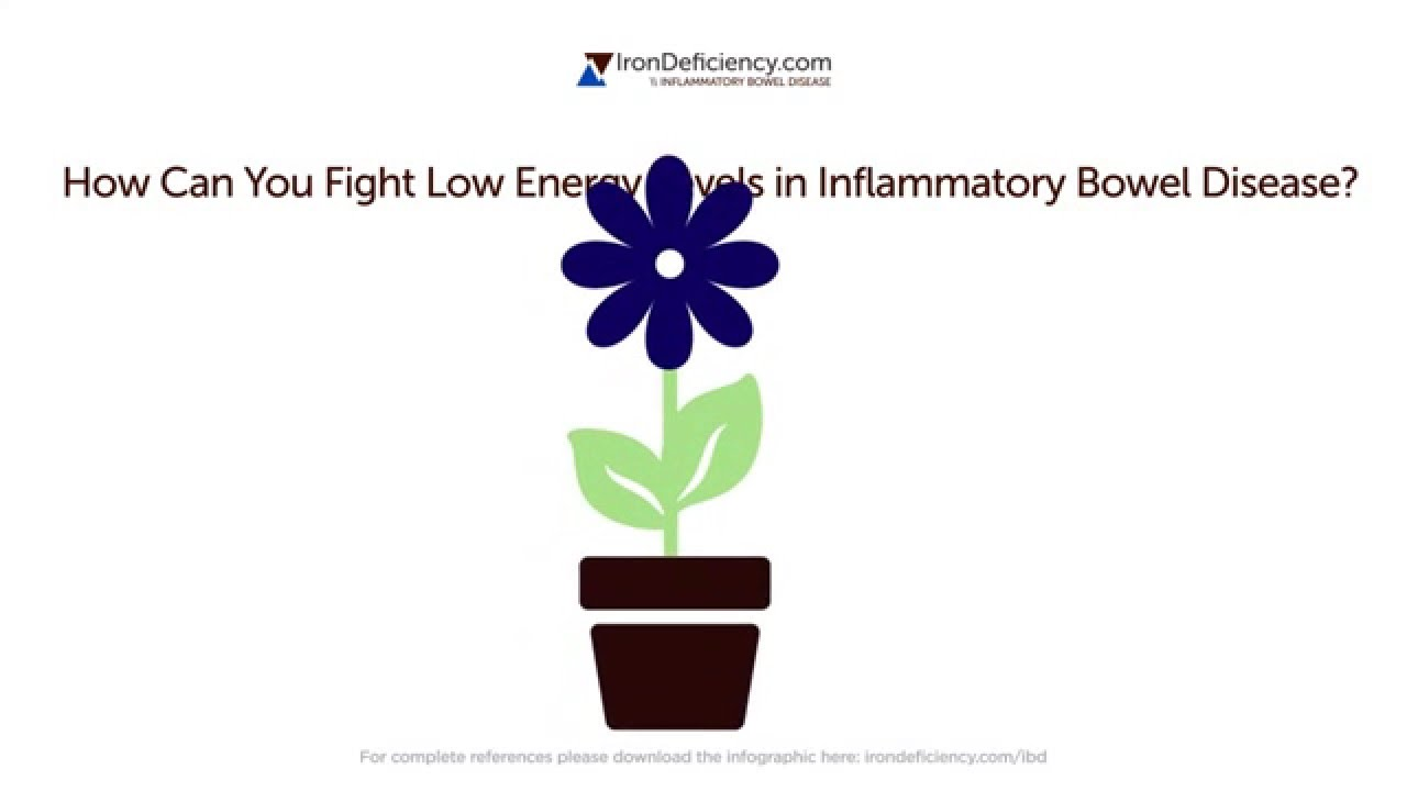 Inflammatory bowel disease, iron deficiency and low energy levels Video Thumbnail