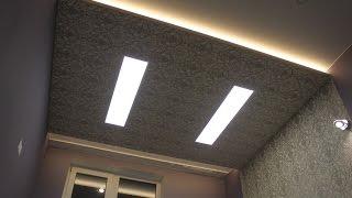 Ремонт квартир в СПб. Монтаж потолочного короба с подсветкой и LED панелями. Пальмира Дом
