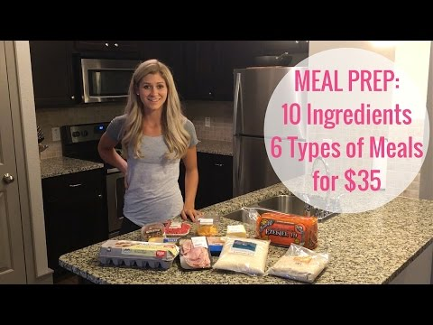 Video Easy & Budget Friendly Meal Prep: 10 Ingredients for 6 Different Meals