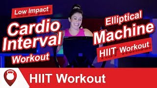 Elliptical Machine HIIT Workout | Low Impact Cardio Interval Workout | Fitscope Studio