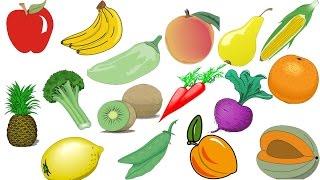 Обучалки для детей, Развивалки, Учим фрукты и овощи.