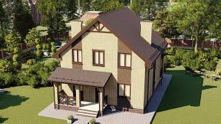 Проект дома 135-F, Площадь дома: 135 м2, Размер дома:  9,6x10 м