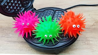 EXPERIMENT WAFFLE IRON vs SPIKE SLIME FISH TOY