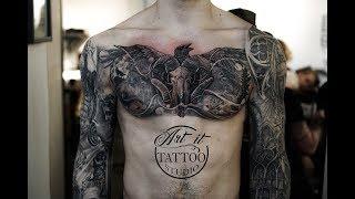 Chest Piece Tattoo - Time Lapse - ART IT TATTOO STUDIO SWEDEN