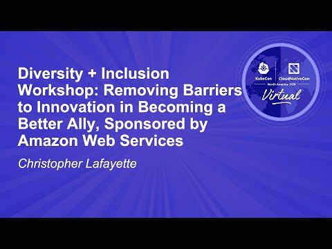 Image thumbnail for talk Diversity + Inclusion Workshop: Removing Barriers to Innovation in Becoming...