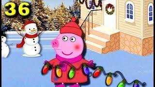 Свинка Пеппа новые серии  Семья свинок готовится к Новому Году 36 серия
