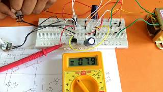 dual adjustable power supply using lm317 lm337 - Thủ thuật