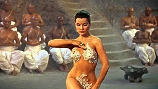 Debra Paget, The Indian Tomb, Snake Dance sexy erotic seduction HD