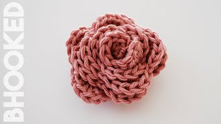How To Crochet A Rose: Beginner Friendly Tutorial. Free Crochet Pattern