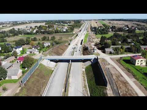 Planowana droga S19 odc. 3 obwodnica m. Kraśnik - widok lotniczy - wrzesień 2021 r.