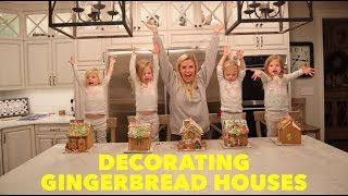 MAKING OUR FIRST GINGERBREAD HOUSES