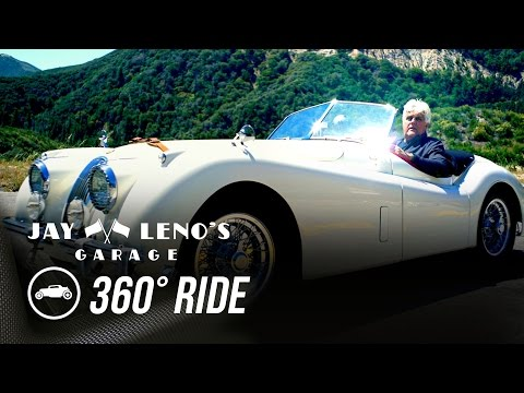 Take a 360˚ Virtual Reality Drive with Jay Leno in a 1954 Jaguar XK120! – Jay Leno's Garage