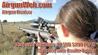 New Benjamin Maximus .22 Airgun Review and Hunting Prairie Dogs - Review by AirgunWeb