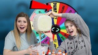 Mystery Wheel of DUMP IT Slime Challenge | Nessa Grace