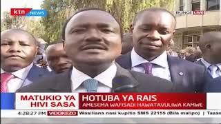 Kalonzo's reaction after Uhuru's state of the Nation address