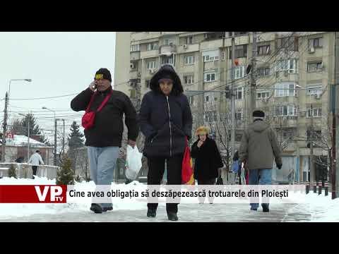 Cine avea obligația să deszăpezească trotuarele din Ploiești