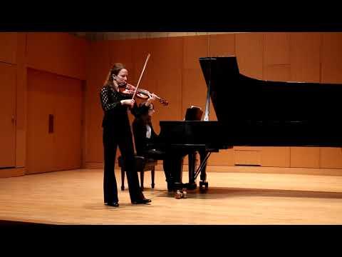 S. Taneyev Concert Suite for violin and orchestra, mvt 4: Theme and variation  Tatiana Zueva - violin Elene Qobulashvili - piano
