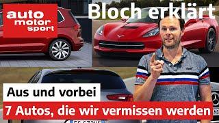 Aus & vorbei: Diese 7 Autos werden wir 2020 definitiv vermissen - Bloch erklärt #92|auto motor sport