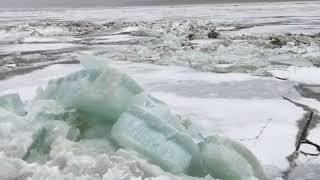 Ice drift - Ob river - 2