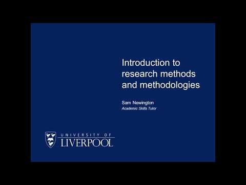 Introduction to research methods and methodologies - YouTube