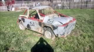 3. Miniatur Crashcar Rennpappe