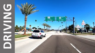 Driving From The Magic Kingdom To Main Street USA In Kissimmee, Florida In 4k