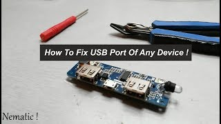 How To Fix USB Port Of Any Device !
