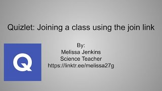 Joining a Quizlet class using the join link