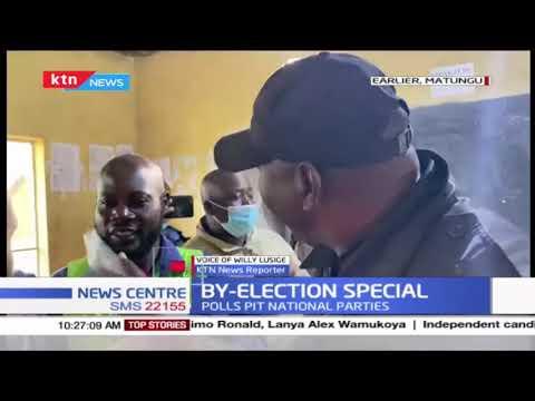 Drama in Matungu after former CS Rashid Echesa assaults an IEBC official