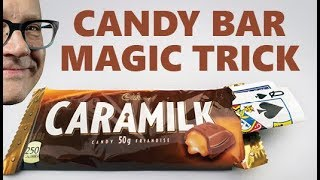 EASY Magic Trick With ANY Candy Bar (Awesome Beginner Card Trick!)