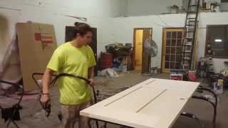 How To Stain a Wood Door:  Easy DIY Project